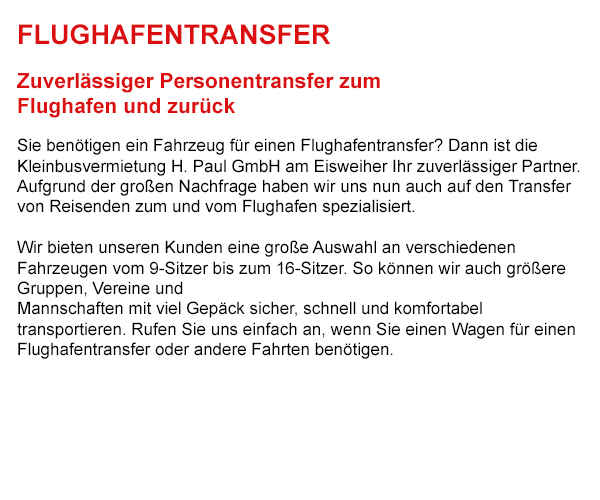 Flughafentransfer in  Oberriexingen
